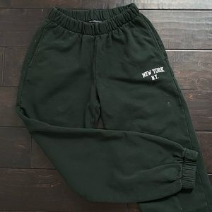 RARE NY Green Sweatpants